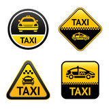 Taxi cab set buttons Stock Images