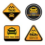Taxi cab set stickers Royalty Free Stock Photos
