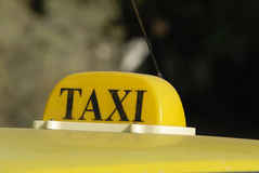 Taxi cab sign Stock Image