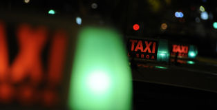 Taxi cab sign Royalty Free Stock Image