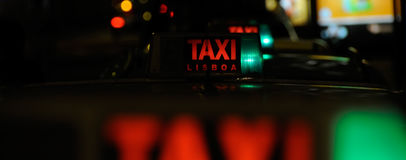 Taxi cab sign Royalty Free Stock Photo