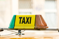 Taxi Cab Sign Stock Photography