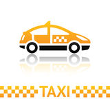 Taxi cab symbol Stock Images
