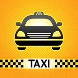 Taxi cab symbol on background Stock Photos