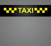 Taxi cab symbol Stock Photography