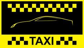 Taxi cab symbol Royalty Free Stock Photos