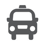 Taxi cab vector icon. Taxi cab vector flat icon illustration EPS10 Stock Image