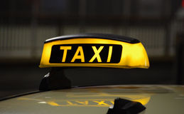 Taxi. Cab waiting for a ride stock images