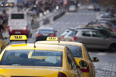Taxi cabs Royalty Free Stock Photo