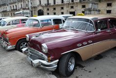 Taxi cabs in Cuba Stock Photography