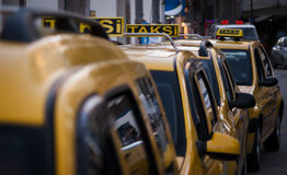 Taxi cabs on parking. Taxi cabs on parking Taksi is a Turkish word, photo taken from Turkey Izmir Stock Image
