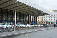 Taxi Cabs waiting at Rome Termini - the central train station in Rome Stock Photography