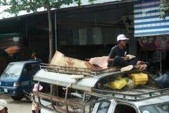 Taxi cambodgien Images libres de droits