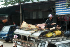 Taxi camboyano Imágenes de archivo libres de regalías