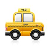 Taxi car. Illustration isolated on white background Royalty Free Stock Photography