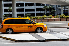 Taxi car at airport Stock Photography