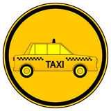 Taxi car button Royalty Free Stock Image