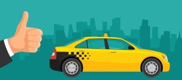 Taxi car. Flat styled vector illustration Royalty Free Stock Photos