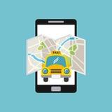 Taxi car icon Stock Photos