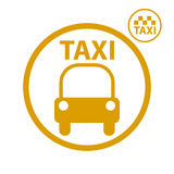 Taxi car icon. Stock Images