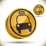 Taxi car icon. Stock Photos