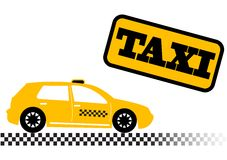 Taxi car illustration Royalty Free Stock Photo