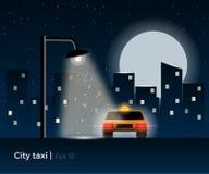 Taxi car illustration Royalty Free Stock Photos