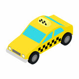 Taxi car isometric 3d icon Stock Photography