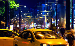 Taxi car in Istanbul Royalty Free Stock Photo