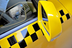 Taxi car mirror Royalty Free Stock Images