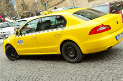 Taxi car in Prague city Royalty Free Stock Photo