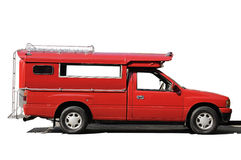 Taxi car-red ,Public transport Royalty Free Stock Photos