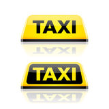 Taxi car roof sign. Illustration Stock Photography