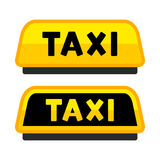 Taxi Car Roof Sign. Logo Label Set. Vector Stock Photo