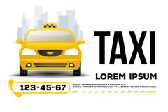 Taxi car service poster. Taxi car service. poster, header, banner.Vector Illustration Royalty Free Stock Photo