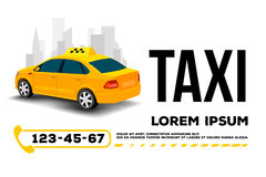 Taxi car service poster. Taxi car service. poster, header, banner.Vector Illustration Stock Photography