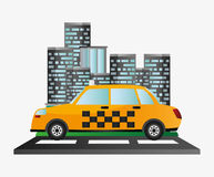 Taxi car service public transport urban background Royalty Free Stock Photo