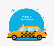 Taxi car service public transport Royalty Free Stock Photography