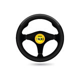 Taxi car sign. Car steering wheel icon. Vector vector illustration
