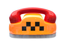 Taxi car sign with telephone reciever handset Stock Photo