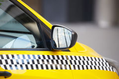Taxi car. On the street Royalty Free Stock Photography