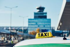 Taxi car on the street Stock Photography