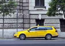 Taxi car in the street Royalty Free Stock Images