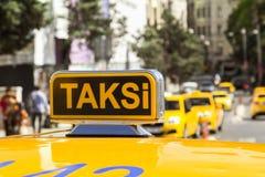 Taxi car in the street. Taxi car on the street- Istanbul/Turkey stock photos
