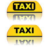 Taxi car top sign Royalty Free Stock Photography