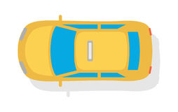 Taxi Car Top View Flat Style Vector Icon Royalty Free Stock Image