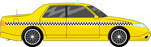 Taxi car vector Royalty Free Stock Images