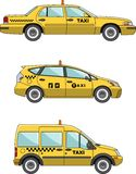 Taxi car on a white background in a flat style Royalty Free Stock Photos