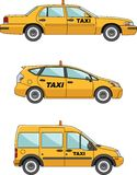 Taxi car on a white background in flat style Stock Photo