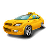 Taxi car  on white background. Royalty Free Stock Photos
